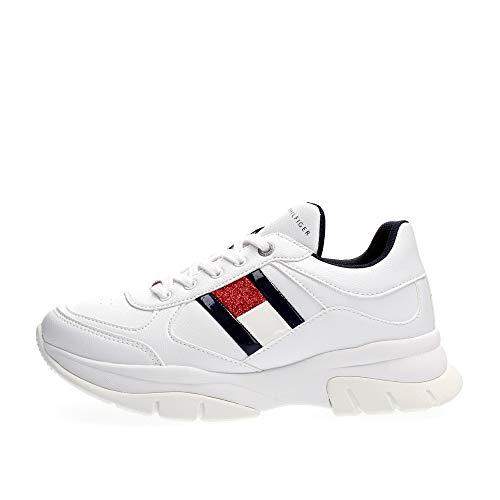 Tommy Hilfigers Fashion Girl - Zapatillas deportivas de la colección Moda Blanco Size: 30 EU