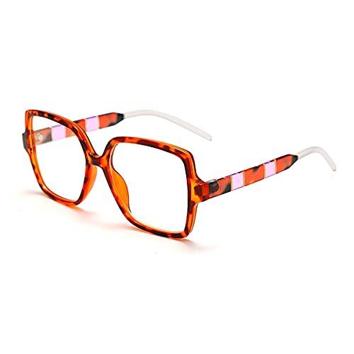 NIUBKLAS Monturas de anteojos cuadradas de gran tamaño para mujer, lentes transparentes para hombre, monturas ópticas de moda para hombre, 3