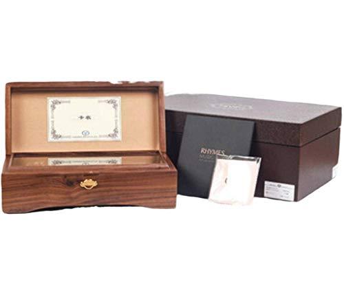 N-B Caja de música de madera tallada 30-50-78, creativa, para niños y niñas, regalo de cumpleaños, día de San Valentín, cajón de regalo, caja de música, movimiento transparente