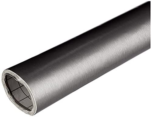 Dintex Vinilo Autoadhesivo Metal INOX Minirollo, Gris, 67,5 cm x 1,5 m