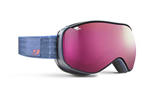 Julbo Ventilate Masque de Ski avec Le SuperFlow System Femme, Bleu Sombre Marbre, L+