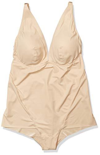 Maidenform Damen Bodysuit - Cover Your Bases Sculpting Jumpsuit, Nude 1/ Transparent, XL