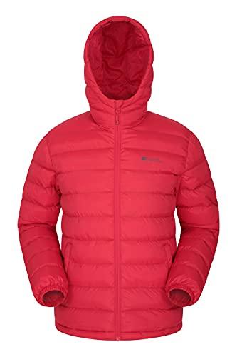 Mountain Warehouse Chaqueta Acolchada Seasons Hombres - Chaqueta Acolchada cálida Hombres, Ligera, Impermeable, Relleno de Microfibra - Chaqueta de Invierno Rojo L