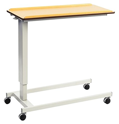 NRS Healthcare EasyLift Overbed/Over Chair Table Beech N43541 Height Adjustable - Standard Base
