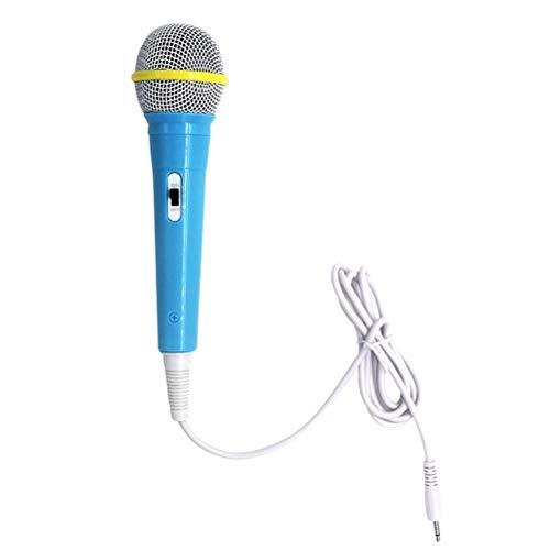 STOBOK Micrófono infantil instrumentos musicales para niños (azul)
