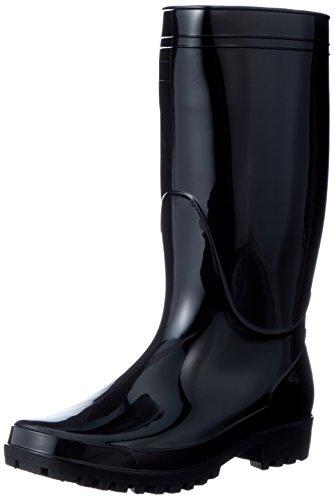 [フジテブクロ] 長靴 軽半 レインブーツ PVC スタンダード 9661 メンズ BLACK 28.0cm