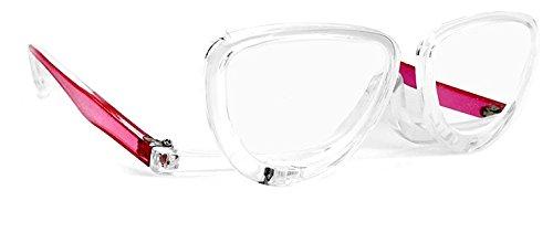 品 老眼鏡 メイク専用 レディース シニアグラス 片目ずつ お化粧時専用 (+3.0) 女性用