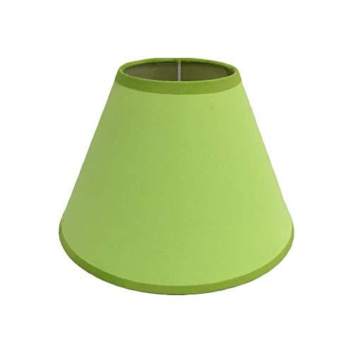 Pantalla de lámpara,Pantalla de Tela Redonda para Lampara del pared, techo, mesa de Dormitorio Pasillo Estudio (Verde)