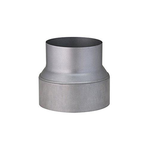 Kamino Flam Reduzierung silber, rostfreie Rohrreduzierung aus feueraluminiertem Stahl, geprüft nach Norm EN 1856-2, zum Anschluss von 150 mm in ein 120 mm Rohr