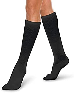 Core-Spun Light Medical Compression Sock - Knee High Sock (Black, 2XL 10-15mmHg)