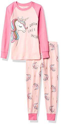 Petit Lem Girl 2Pc Pj Set: L/S Top and Pant Knit, 401 Lt. Pink, 6