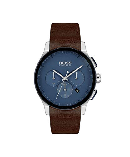 Hugo Boss Quarz Uhr mit Leder Armband 1513760