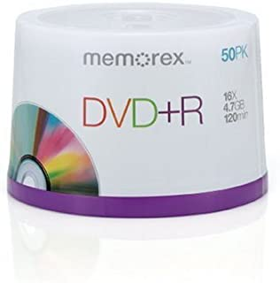 Memorex DVD+R 16x 4.7GB 50 Pack Spindle (Renewed)