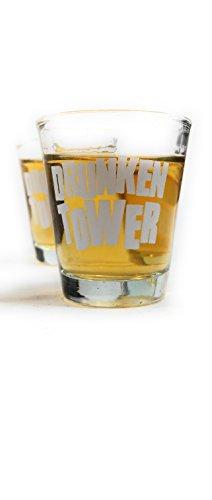 Bambelaa! Trinkspiel Partyspiel Wackelturm Drunken Tower inklusive Vier Trinkgläser ca. 4cl (Englische Version) - 2