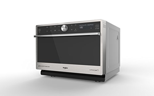 Whirlpool Microonde MWP 3391 SX Supreme Chef termoventilato combinato,33 litri, colore inox, con griglia alta, gliglia bassa, piatto Crisp + maniglia