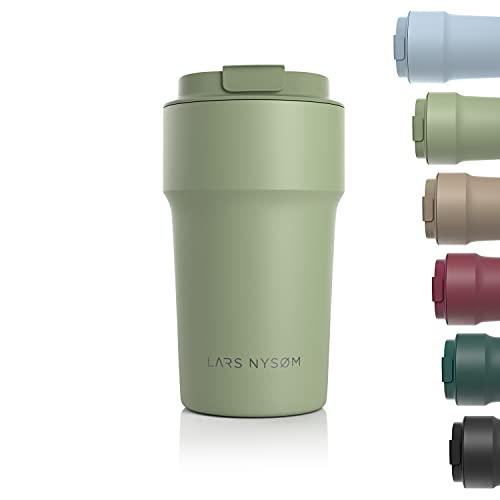 LARS NYSØM Tazza Termica per caffè Thermo Coffee Mug-to-Go 500ml | Tazza da Viaggio Senza BPA 0,5 Litri con Isolamento | Tazza Termica in Acciaio Inox a Tenuta stagna per caffè e tè