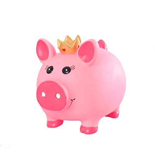 BESPORTBLE Krone Schwein Sparschwein Ornamente Desktop Handwerk Währung sparen Kinder Spardose Geschenke Wohnkultur (Krone Schwein, groß)