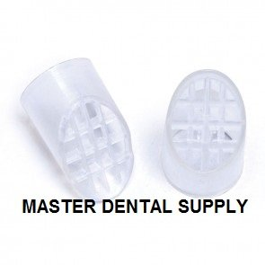 Dental HVE Tips Screens CLEAR Disposable Evacuation Screens 100 Pcs/Bag Evacuator Tips Screens