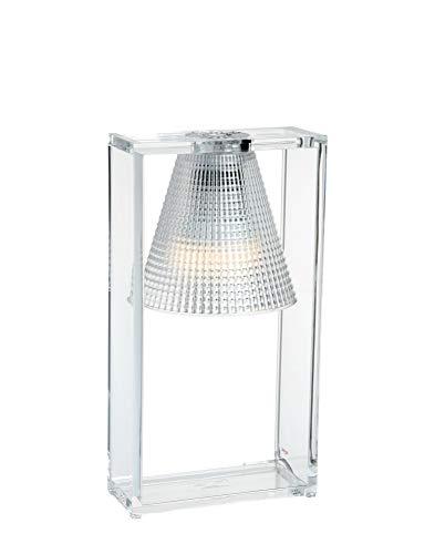 Kartell Light- Air, Tischleuchte mit Prägung, Glasklar
