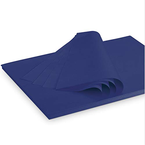 Seidenpapier Packseide farbig Blau 35 g/qm 375 x 500 mm VE 2 Kg