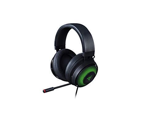 Razer Kraken Ultimate – Casque Gaming USB (Casque Gaming pour PC, PS4 & Switch Dock avec Son Surround, Coussin de Gel Rafraîchissant, ANC Microphone & RGB Chroma) Noir