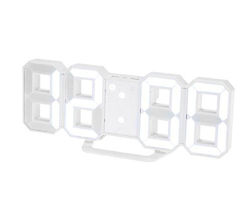 Haolong LED 壁掛け デジタル時計 - 3D 立体 wall ウォール clock アラーム機能付き 置き時計 壁掛け時計