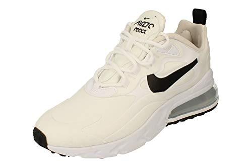 Nike W Air MAX 270 React, Zapatillas para Correr Mujer, Multicolore White Black Mtlc Silver, 38.5 EU