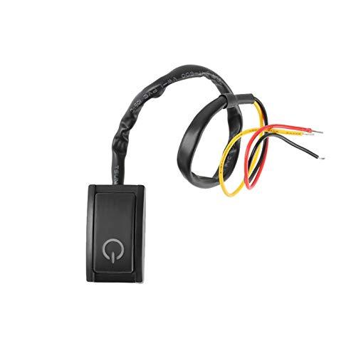 Ymhan DC12V / 200MA Black Car Switch Button Interruptor Adhesivo Encendido/Apagado Símbolo Símbolo Tipo de Pasta Pulsador