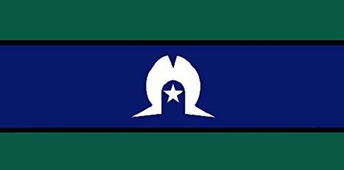 Perfectflags Torres Strait Island Drapeau 1,5 x 0,9 m Grand – 100% Polyester – Oeillets en métal – Double Couture