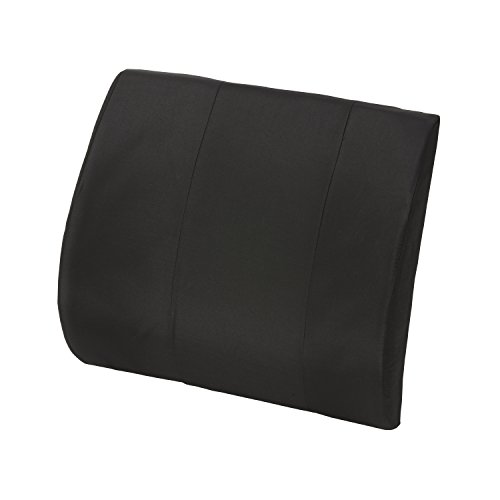 Lumbar Cushion - Office Chair Back Pillow - Low Back Support Cushion, Lumbar Back Support Foam Seat Cushion for Car, Black