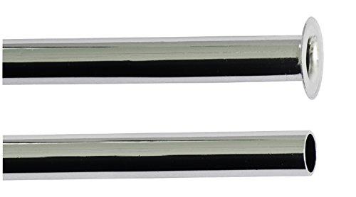 Kupferrohr für den Anschluss eines Wasserhahnes | 8 x 300 mm | Kupferrohr mit Bördelrand | Armaturenanschlussrohr | Anschluss Armatur | Verchromt
