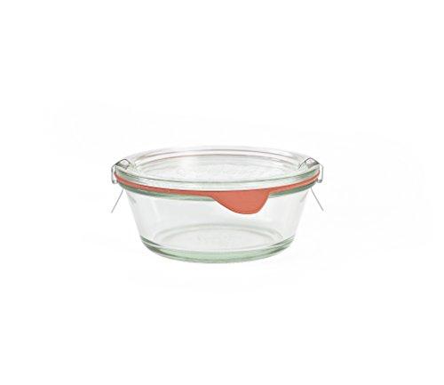 Weck Set 6 pz Vasetto 300ml Jar con Coperchio, guarnizioni e Clips Incluse