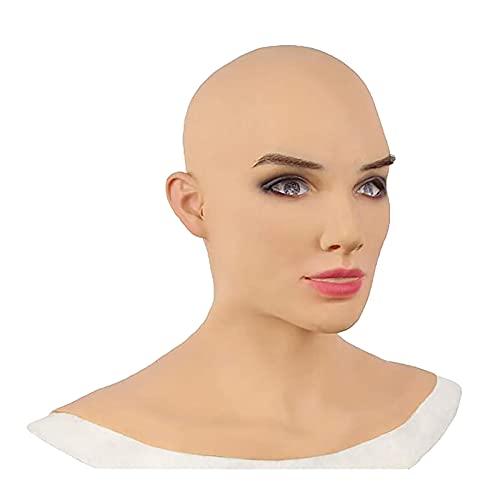 BESDAY Halloween Maske Totenkopf Maske Grimasse Latexmaske für Erwachsene und Frauen.