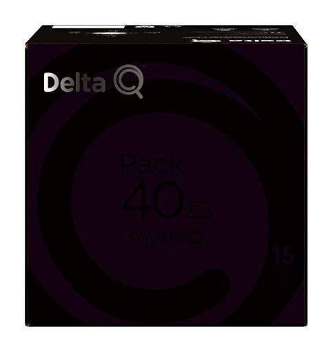Delta Q - Pack 40 mythiQ - 40 Cápsulas de Café - Intensidad muy Alta