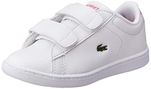 Lacoste Unisex-Child Carnaby EVO BL 2 Sui Sneaker, Weiß (B53 White/Pink), 24 EU