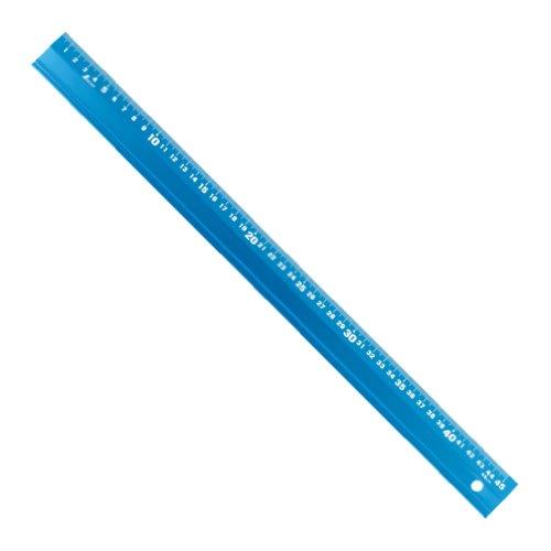 シンワ測定(Shinwa Sokutei) アルミ直尺 アル助 シャイニングブルー 45cm 65423
