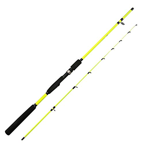 Gneric YMYGBH Angelrute Spinnrute 1.6M 1.8M 2.1M Gelb Rotating-Rod-Angelrute Karpfenfutter Köder Angelrute (Color : Yellow, Size : 1.8 m)