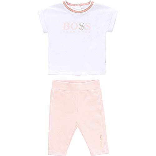 Set aus T-Shirt und Leggings, Body für Babys, Weiß, Rosa, 1 Monat