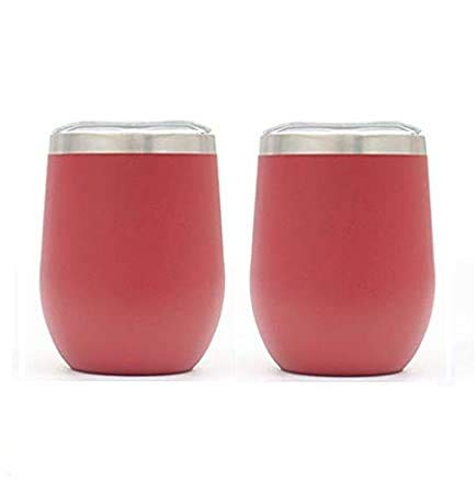 2 vasos de vino sin tallo de 12 onzas con tapa de...
