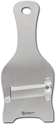 Sanelli Ambrogio Acciaio Ambrogio Sanelli-Affettatartufi Regolatore di qualità per Un Taglio preciso. Lama Liscia, Inox, Inossidabile, 23.0x9.0x2.5 cm