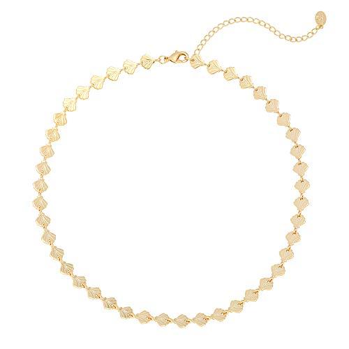 Yehwang Opgericht op 2008 - Premium Design sieraden - ketting met gouden schelpen - nikkelvrij - Choker Shells Forever