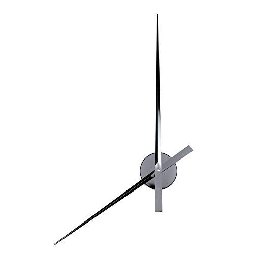 Design WANDUHR GROßE Zeiger   Ø 90 cm, Aluminium   Wanddeko, Uhrwerk, große Uhr   Farbe: schwarz