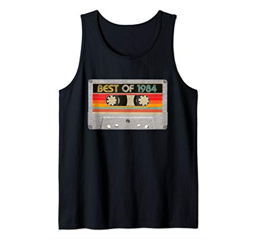 Best Of 1984 36th Birthday Gifts Cassette Tape Vintage Tank Top