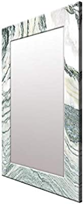 999Store Printed White Stone Rustic Pattern Mirror