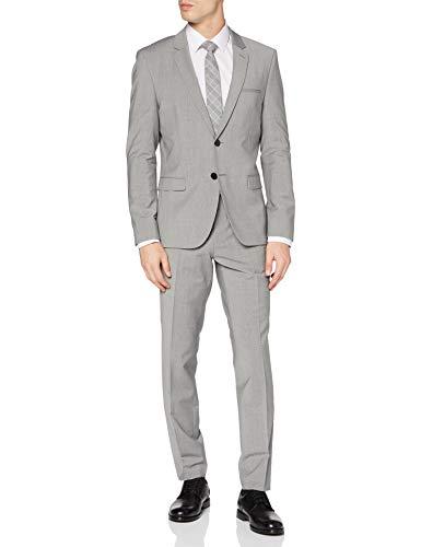 HUGO Mens Arti/Hesten204X Suit - Dress Set, Dark Grey (21), 48