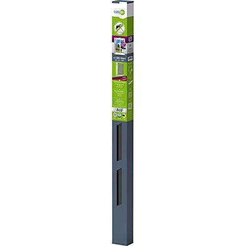 Easy Life Pollenschutzgitter ALLERGICpro mit proLINE Alu Rahmen Fenster Insektenschutz Spannrahmen Pollenstop und Fliegengitter, Farbe:Anthrazit, Größe:100 x 120 cm