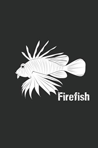 Firefish Notebook: Firefish Apneadiver Diver Ozean Deep Sea Diver Notebook or Journal Dot Grif (6x9 inches) cream paper with 120 pages