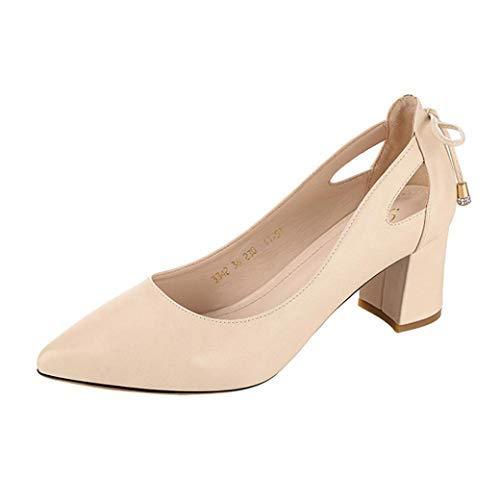 Zapatos de tacón de Mujer, Sonnena Zapatos de tacón Fino de Moda de Mujer Zapatos de Tacones Altos Poco Zapatos Casuals para Trabajar y Jugar hogar y Exterior