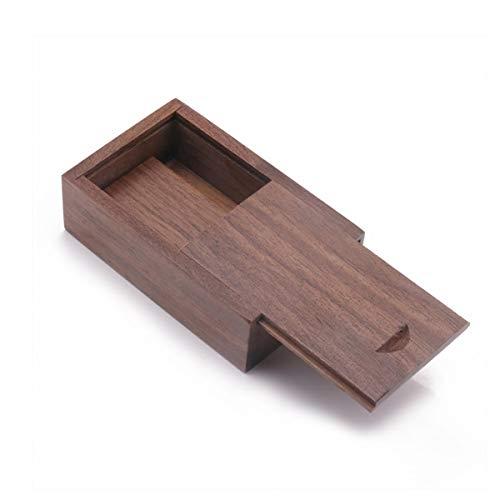 Holz Geschenkbox mit Schiebedeckel, JBOS Schiebedeckel Holzboxen USB-Box zum Gravieren von Wörtern für Freunde/Geschäftspartner/Fotografen/Kunden (Walnußholz, 8x5.1x2.5cm)