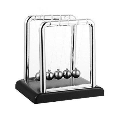 Toys4Boys Pendule de Newton Balancier Newton Balançoire Newton Berceau Balle d'équilibre Décor Bureau Cadeau Jeux Scientifiques